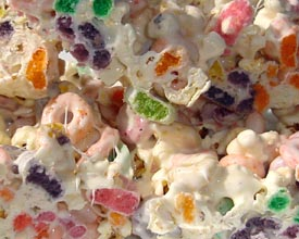 Marshmallow Fruit Loops Treats